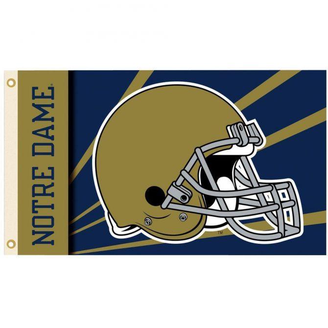 Notre Dame Helmet Flag