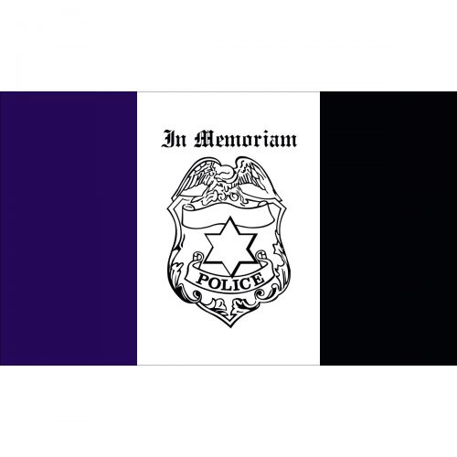 Police Mourning Flag