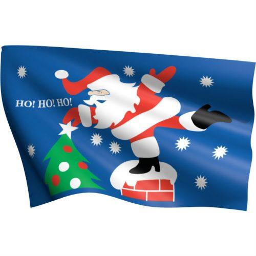 HoHoHo Santa Flag