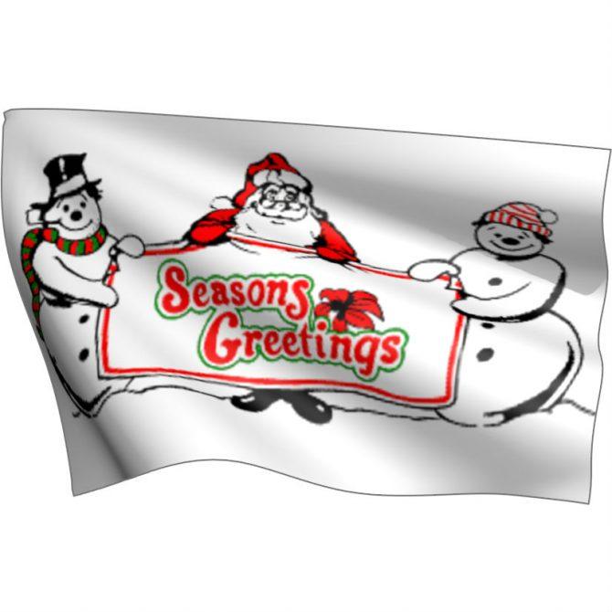 Season's Greetings Flag