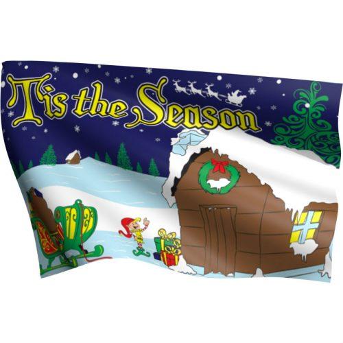 Tis The Season Flag