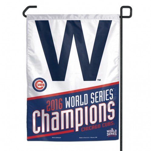 Chicago Cubs World Series Champion W Garden Flag