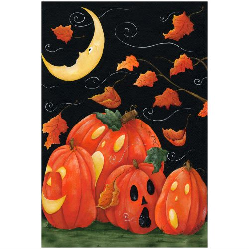 Scary Night Halloween Garden Flag