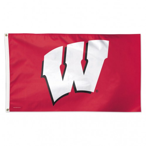 Wisconsin Badgers Deluxe Flag