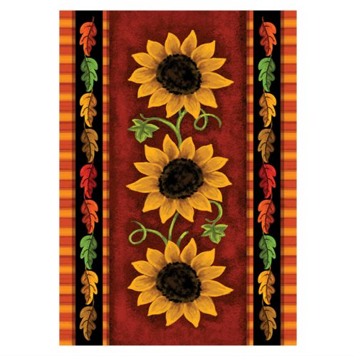 Sunflower Trio Garden Flag