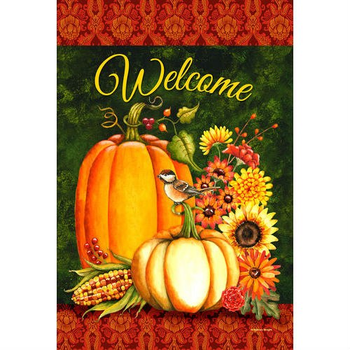 Welcome Gourds House Flag