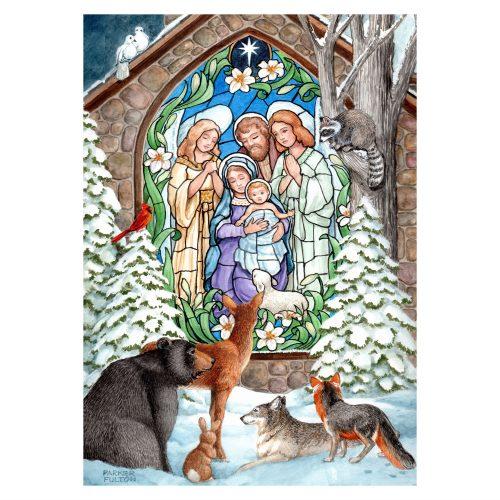 Winter Christmas Nativity Garden Flag