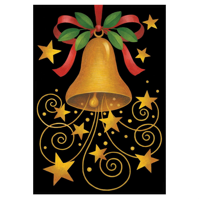Christmas Bell Winter Garden Flag