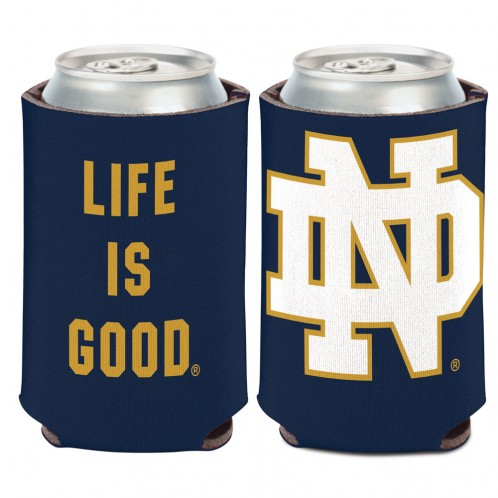 Notre Dame Life Is Good Can Cooler