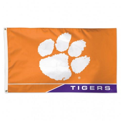 Clemson University Deluxe Flag