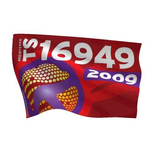 4-Color TS 16949:2009 Flag