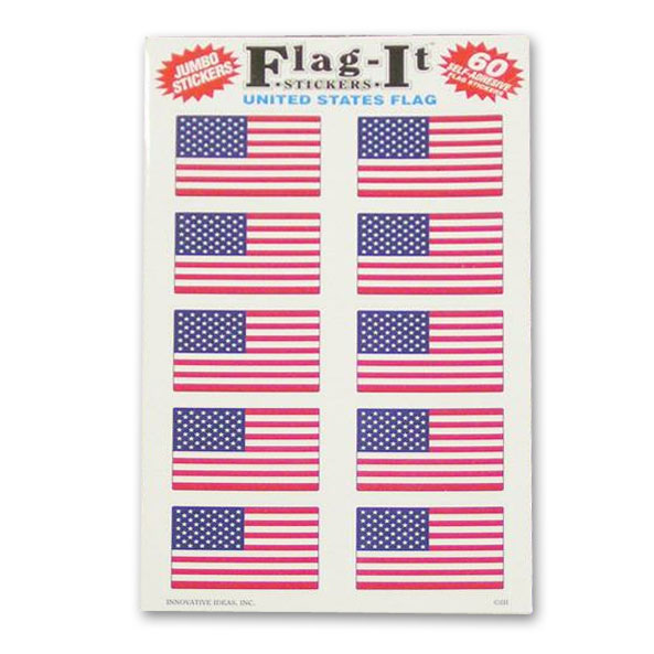 60 US Flag Stickers