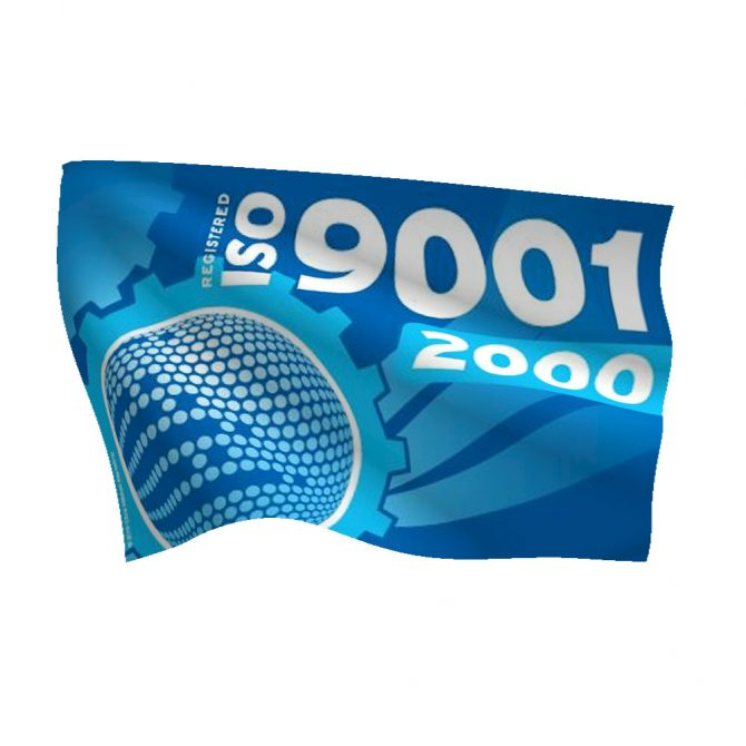 4-Color ISO 9001:2000 Flag