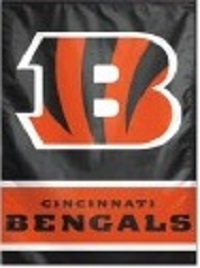 Cincinnati Bengals Two-Sided House Flag
