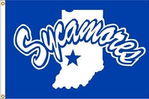 Indiana State ISU Sycamores House Flag