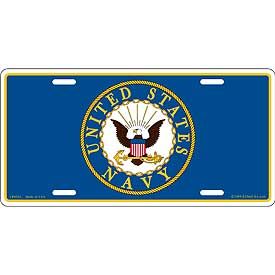 Navy License Plate