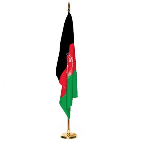 Indoor Afghanistan Ceremonial Flag Set