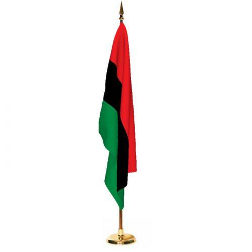 Indoor Afro American Ceremonial Flag Set