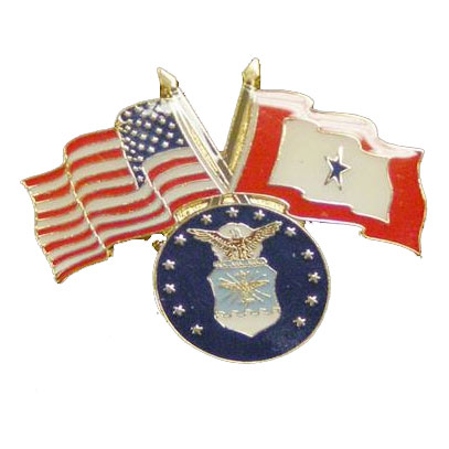 America, Service Star and Air Force Flag Lapel Pin