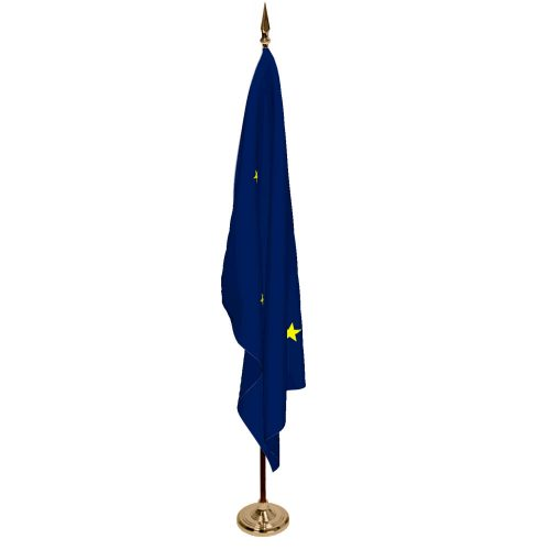 Indoor Alaska Ceremonial Flag Set