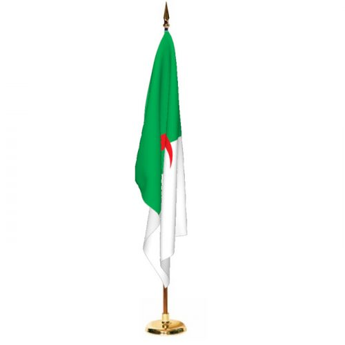 Indoor Algeria Ceremonial Flag Set