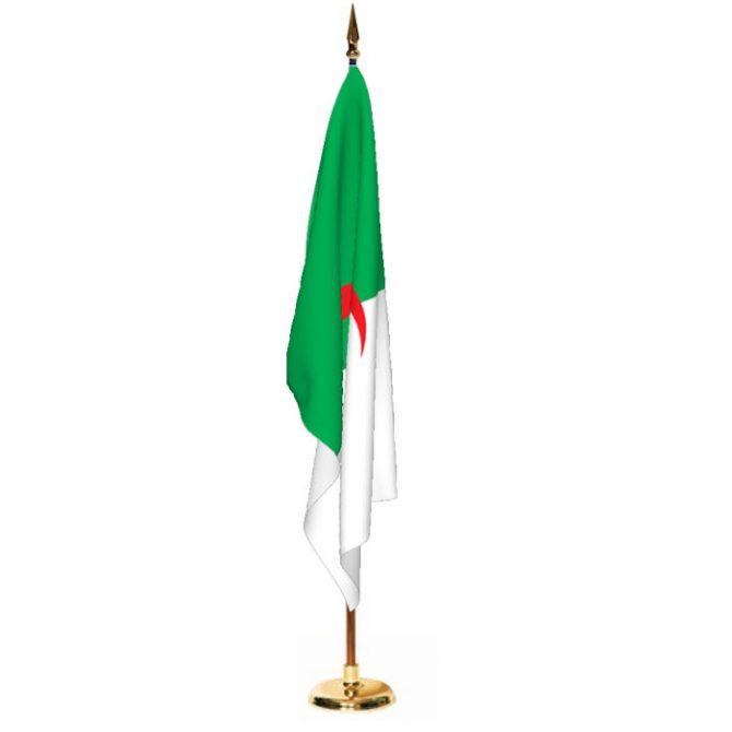 Indoor Algeria Ceremonial Flag Set