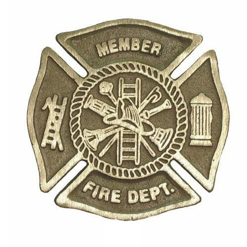 Fire Department Cast Bronze Grave Marker