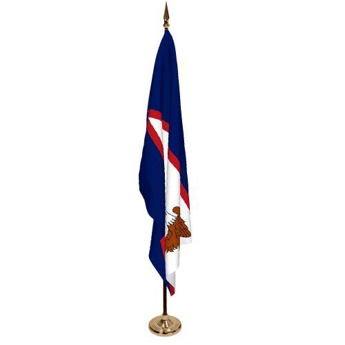 Indoor American Samoa Ceremonial Flag Set