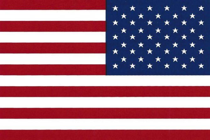 Right Hand American Flag Sticker