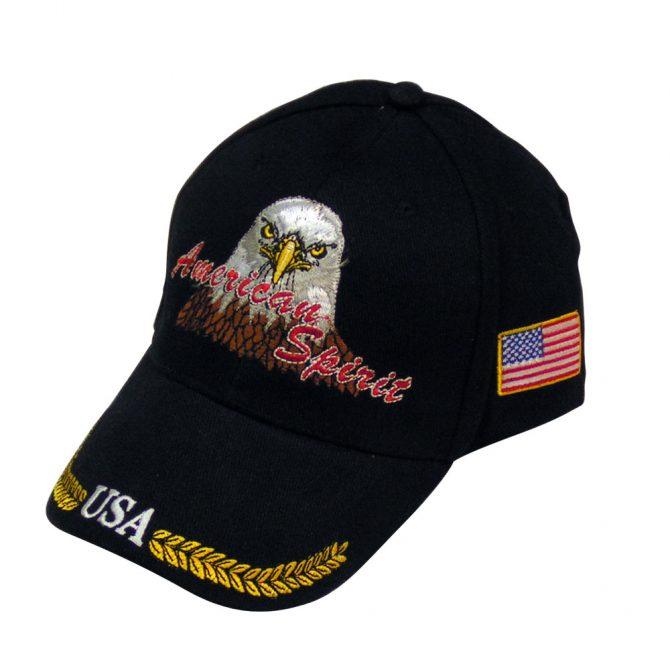 American Spirit Embroidered USA Hat