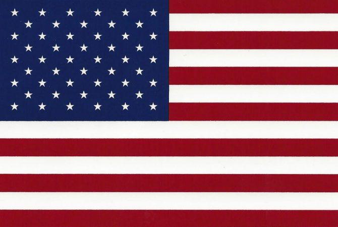 Left Hand American Flag Sticker