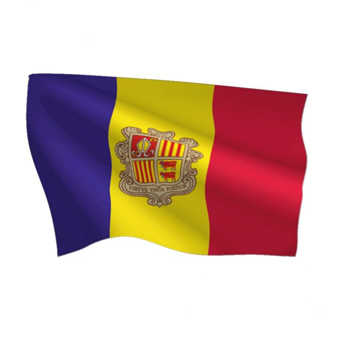 Andorra with Seal Flag