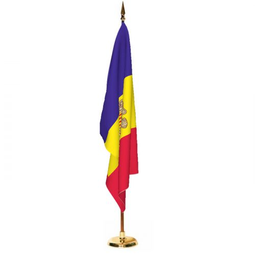 Indoor Andorra with Seal Ceremonial Flag Set