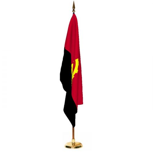 Indoor Angola Ceremonial Flag Set