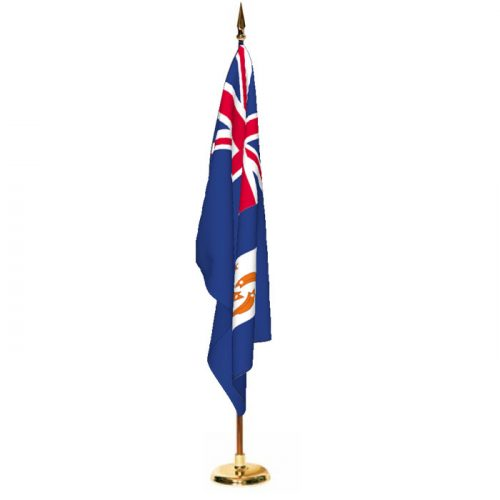 Indoor Anguilla Ceremonial Flag Set