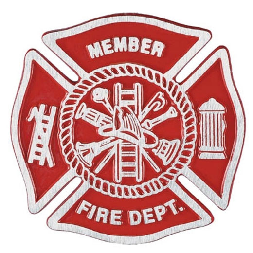 Fire Department Cast Aluminum Grave Marker