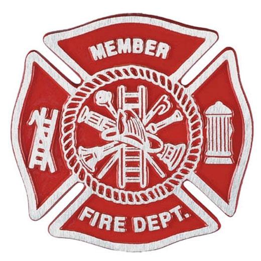 Fire Department Cast Aluminum Grave Marker
