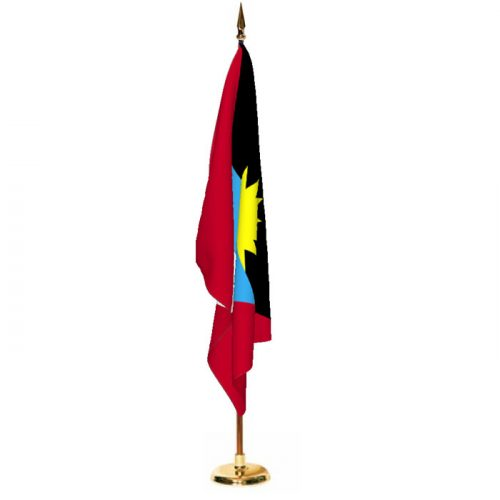 Indoor Antigua and Barbuda Ceremonial Flag Set