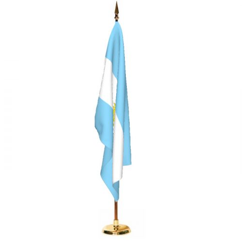 Indoor Argentina with Seal Ceremonial Flag Set