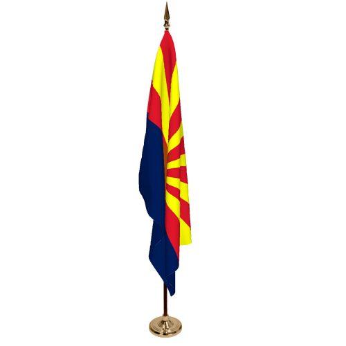 Indoor Arizona Ceremonial Flag Set