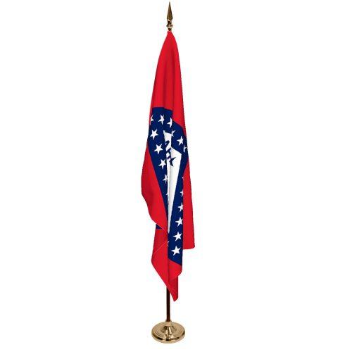 Indoor Arkansas Ceremonial Flag Set