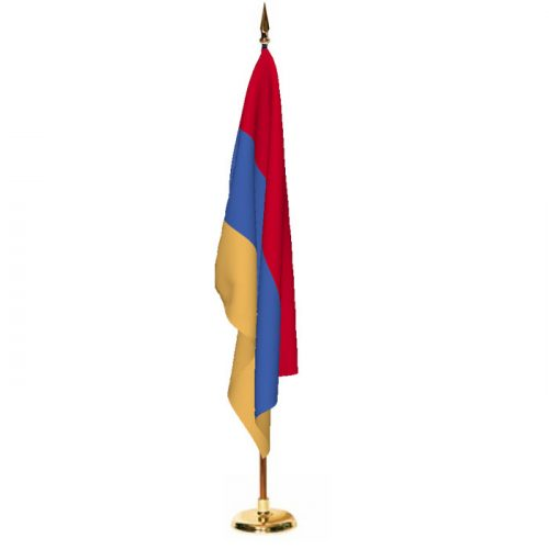 Indoor Armenia Ceremonial Flag Set