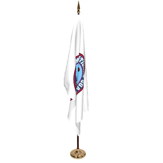Indoor Army National Guard Ceremonial Flag Set