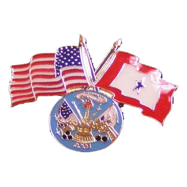 America, Service Star and Army Flag Lapel Pin