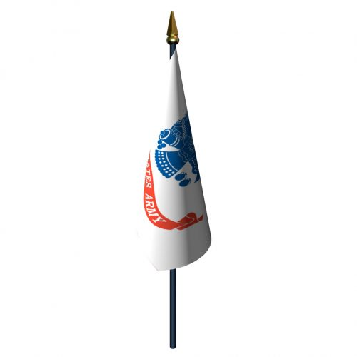 Army Flag with Staff and Spear