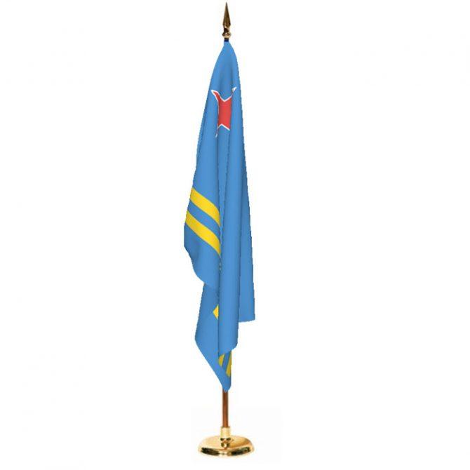 Indoor Aruba Ceremonial Flag Set