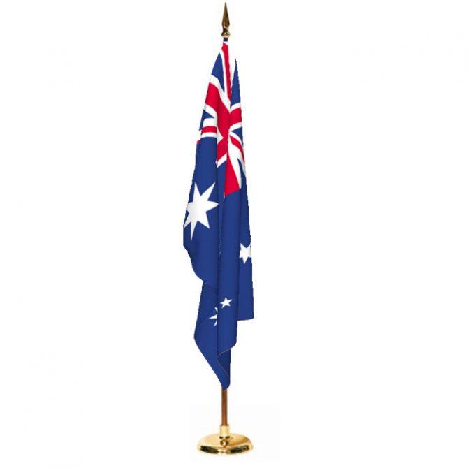 Indoor Australia Ceremonial Flag Set