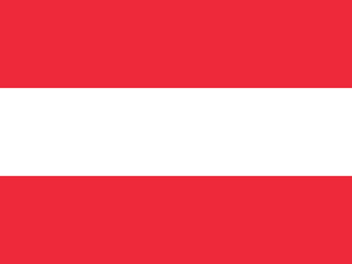 Austria Flag with Staff and Spear