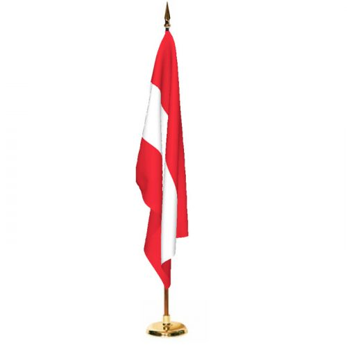 Indoor Austria Ceremonial Flag Set