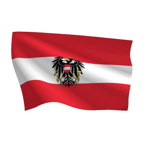 Austria with Seal Flag